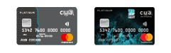 CUA Grey debit card and brisbane heat credit card