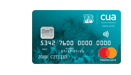 CUA teal credit card and Brisbane heat credit card