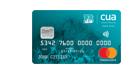 CUA teal credit card and Brisbane heat credit card